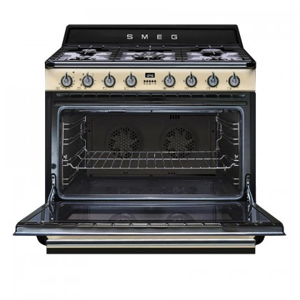 Smeg Victoria Combi Set - KT90PE Range Hood + TR90P9 Professional Range Cooker