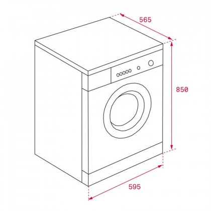 Teka TKD 1610 WD 10kg/7kg Automatic Cloth Washer Dryer