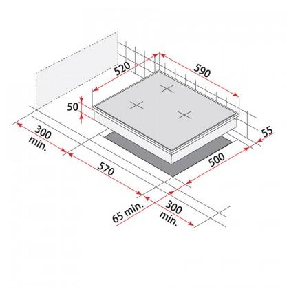 Teka VTTC 60.1 60cm 3-Cooking Zone Vitroceramic Hob