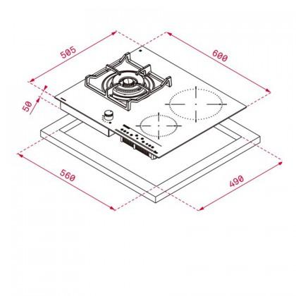 Teka IG 620 1G AI AL DR CI BUT Hybrid Hob (Gas + Induction)