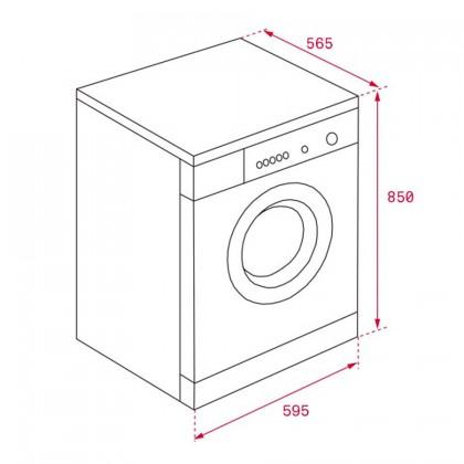 Teka TKD 1480 8kg Front Loading Washing Machine