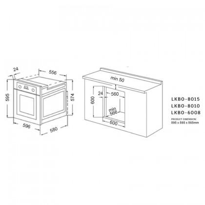 Lebensstil LKBO-8015 80L Built-In Oven