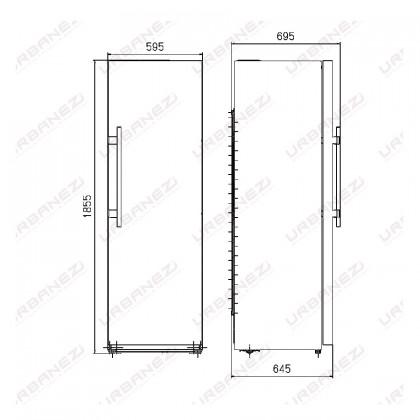 Teka TGF 300 NF 1-Door Refrigerator (261L Upright Single Door Freezer - Capable for Pigeon Pair Fridge-Freezer)