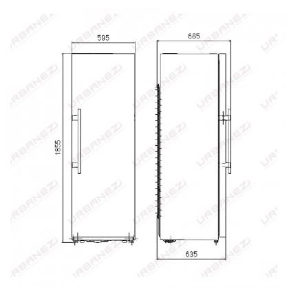 Teka TSL 400 NF 1-Door Refrigerator (355L Upright Single Door Fridge - Capable for Pigeon Pair Fridge-Freezer)
