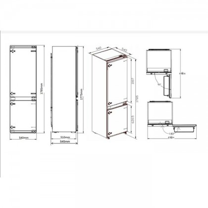 Teka CI4 330 WH 2-Door Refrigerator (241L Full Integrated Built-In Fridge-Freezer)