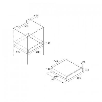 Bertazzoni Design Series WD60CONX Warming Drawer