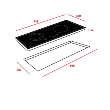 Teka VTCM 700.3 73cm 2-Cooking Zones Vitroceramic Hob