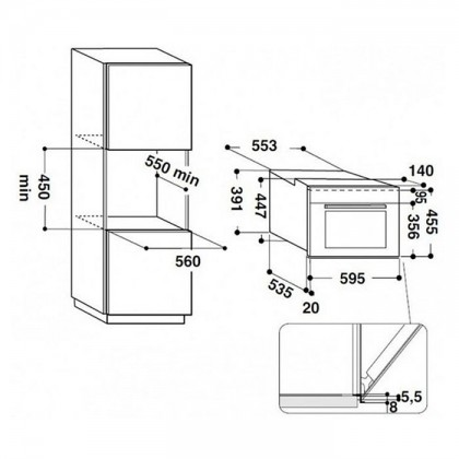 Ariston MS 798 IX A (EX) 31L Compact Combination Steam Oven