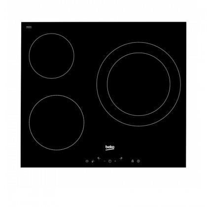 Beko HCB93041XB Cooker Hood + HIC63401T 3-Cooking Zone Vitroceramic Hob