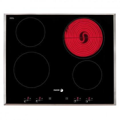 Fagor 3HFT-90X Cooker Hood + 2VFT-400AX 4-Cooking Zone Vitroceramic Hob