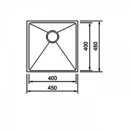 SMITH SUM454523-RG NANO ROSE GOLD Undermount Small Size Single Bowl - Nanotech Stainless Steel Kitchen Sink