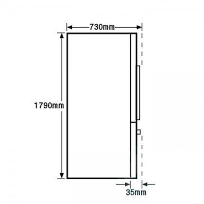 Fisher & Paykel RF610ADUSX 90cm 3-Door Refrigerator (614L Stainless Steel French Door Fridge-Freezer)