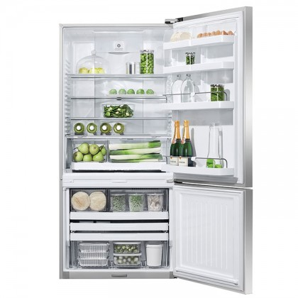 Fisher & Paykel E522BXFD 79cm 2-Door Refrigerator (519L Stainless Steel Bottom Mount Fridge-Freezer)