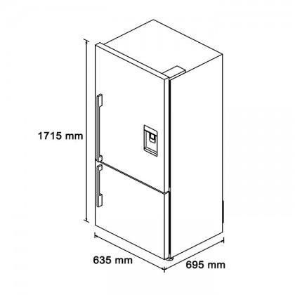 [Pre-Order] Fisher & Paykel E402BRXFDU 63.5cm 2-Door Refrigerator (403L Stainless Steel Bottom Mount Fridge-Freezer)