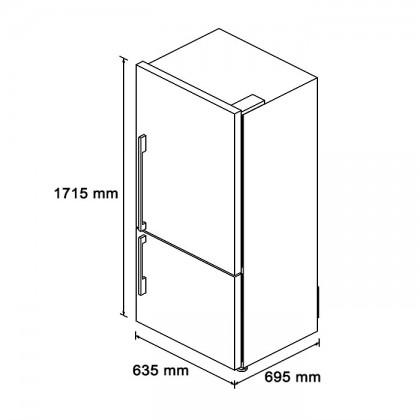 [Pre-Order] Fisher & Paykel E402BXFD 63.5cm 2-Door Refrigerator (403L Stainless Steel Bottom Mount Fridge-Freezer)