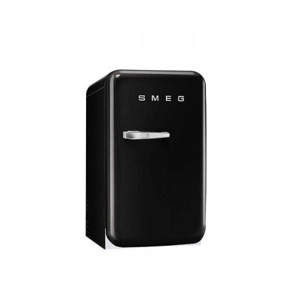 Smeg FAB5RBL3 BLACK, 50's Retro Style Classic Refrigerator (Freestanding Mini Fridge)
