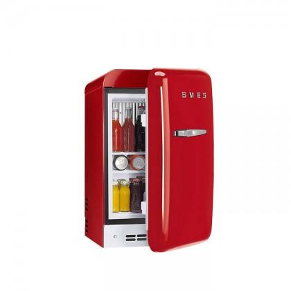 Smeg FAB5RRD3 RED, 50's Retro Style Classic Refrigerator (Freestanding Mini Fridge)