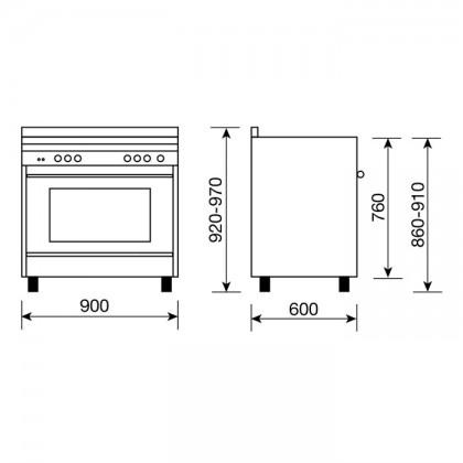 [Pre-Order] Glem MATRIX 90cm Professional Range Cooker