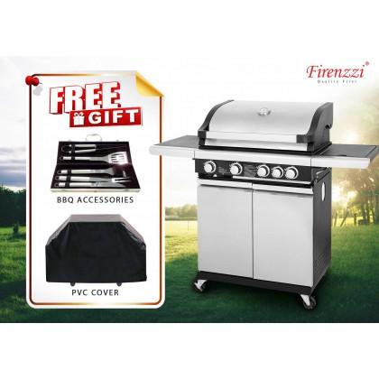 Firenzzi FBQ-1548 Professional BBQ Grill (4 Main Burner + 1 Side Burner)