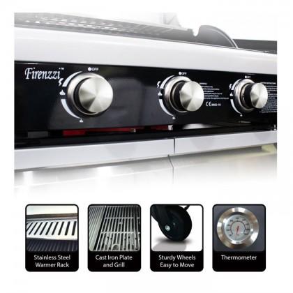 Firenzzi FBQ-1038 Professional BBQ Grill (Powerful 3 Burners)
