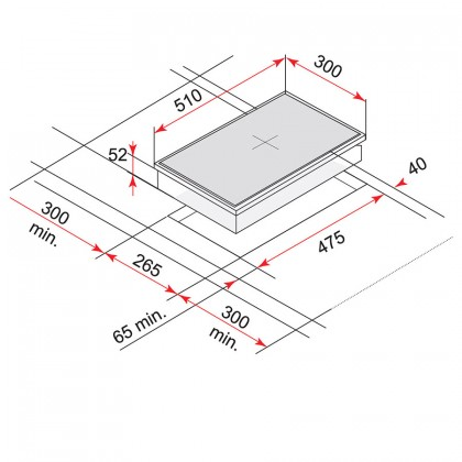 Teka GK LUX 30.1 1G AI AL TR Modular Single Burner Gas Hob