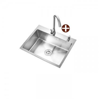 Smith SUM-604523 Undermount 1-Bowl Stainless Steel Sink