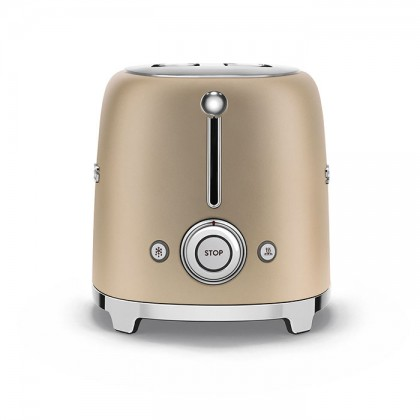 Smeg TSF01CHM (Matte Gold) 50's Retro Style Toaster