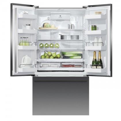 Fisher & Paykel RF610ADUB5 90cm 3-Door Refrigerator (614L Black Stainless Steel French Door Fridge-Freezer)