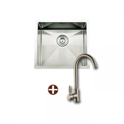 Smith SUM-454523 Undermount 1-Bowl Stainless Steel Sink
