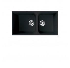 Elleci LGN46070BSO (VENICE Nero) Granite Sink - (Display Clearance)