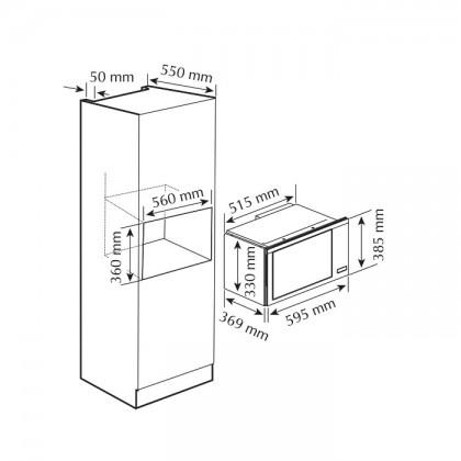 Fotile HW25800K-C2GT 25L Built-In Microwave
