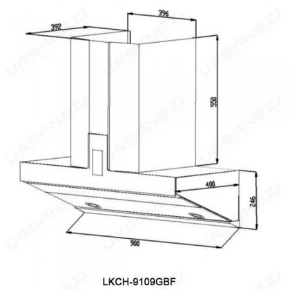 Lebensstil LKCH-9109GBF Chimney Hood