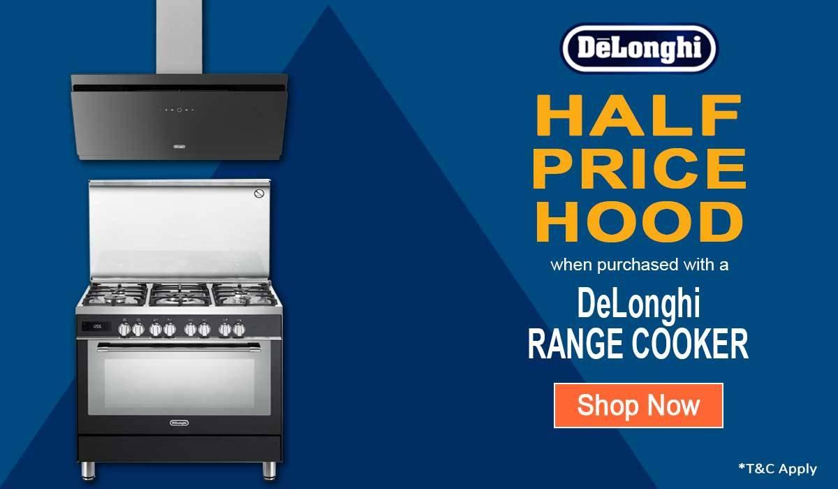 delonghi range cooker promotion at best price