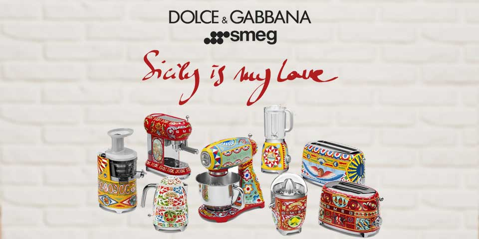 Dolce & Gabbana x Smeg  - Sicily is my Love collection of kitchen appliaces.
