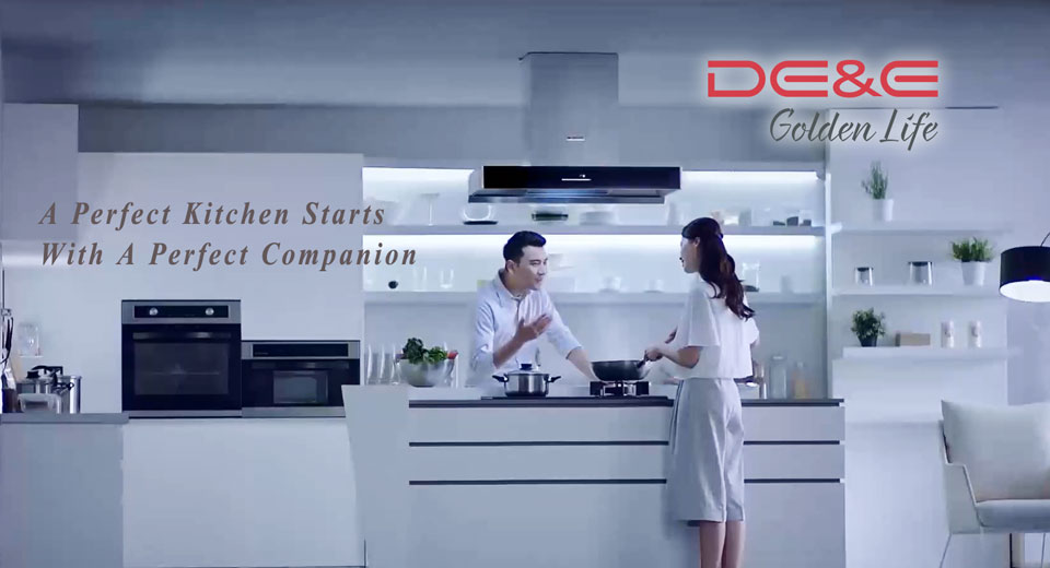 DE&E Appliances  - Cooking Hood and Hob, Steam Oven, Built-In Oven and Sterillizer