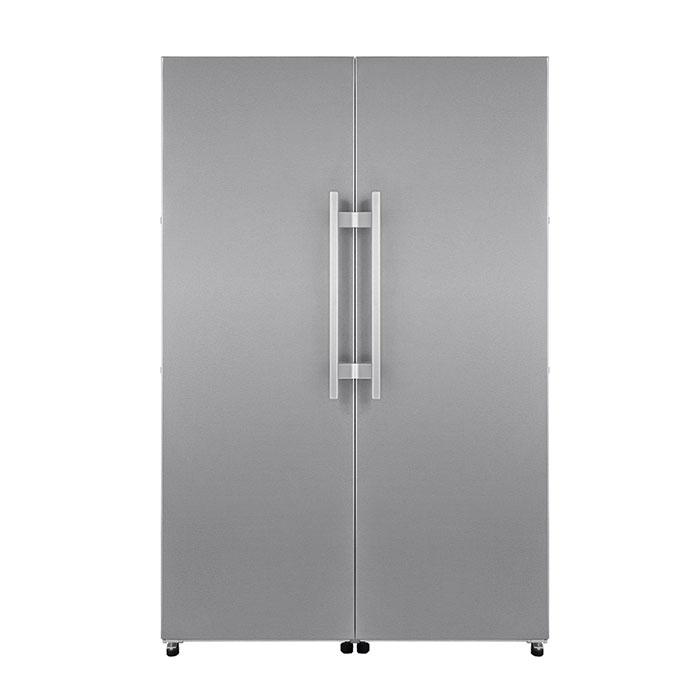 Forseti Gelato-Crisper fridge freezer Side-by-Side refrigerator on door closing