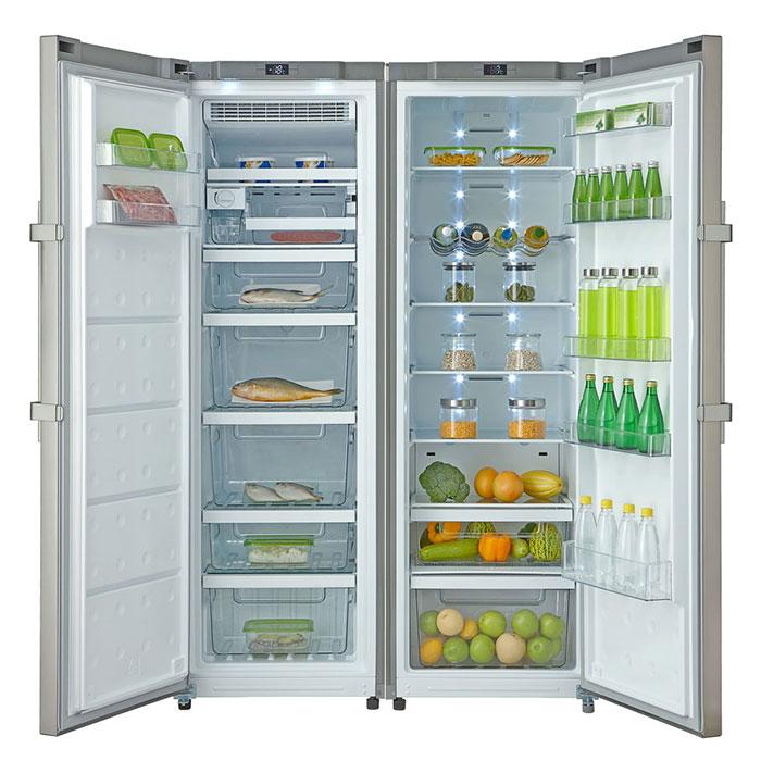 Forseti Gelato-Crisper fridge freezer Side-by-Side refrigerator on door opening