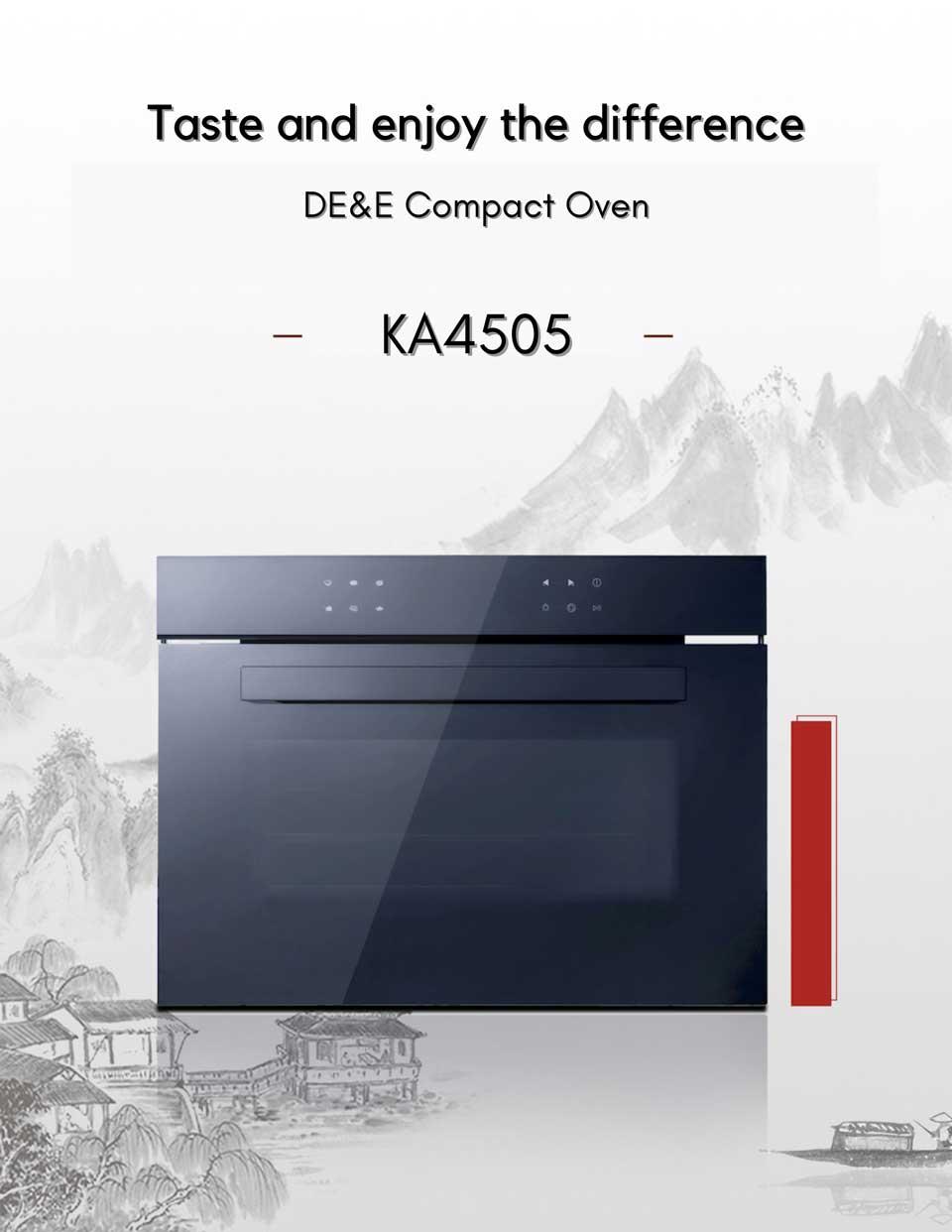 high capacity 45L de&e KA4505 built-in compact oven