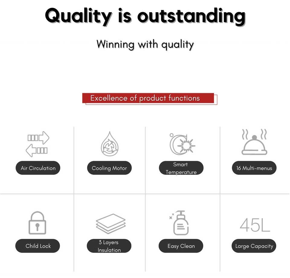 quality high-end de&e KA4505 multifunction 45cm series built-in oven