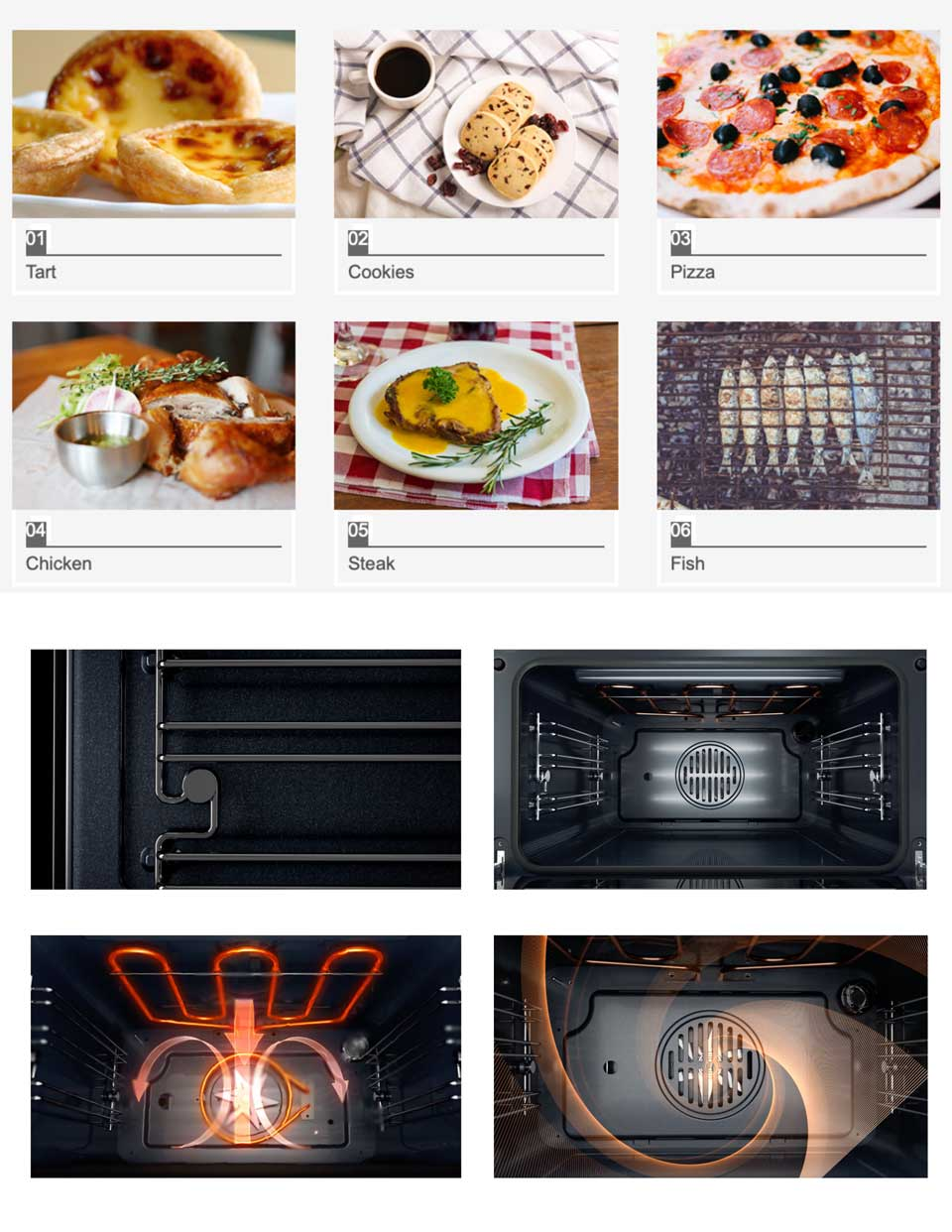 Intelligent cooking menus with 3 layers cavity - 45cm series DE&E KA4505 oven