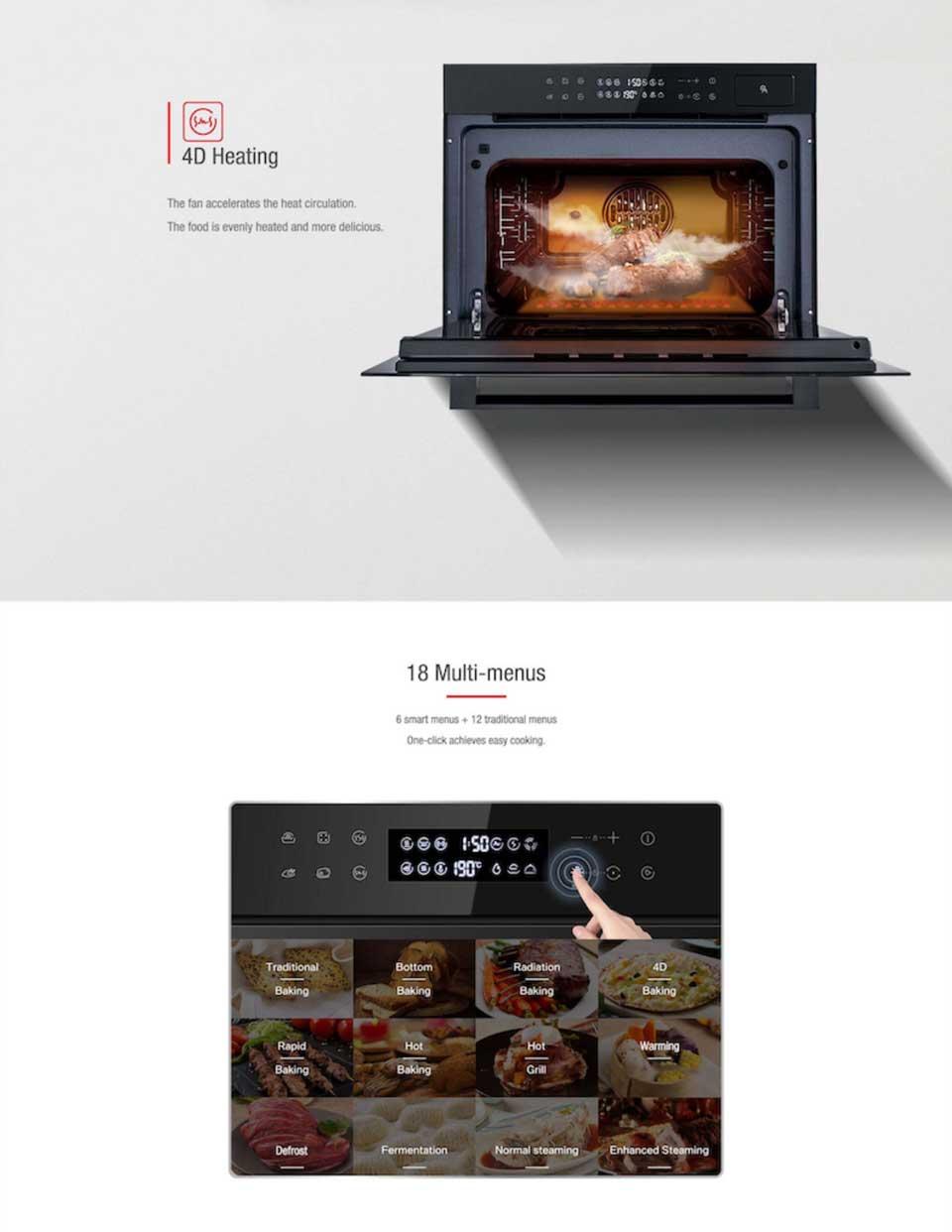 DE&E ZK4585 Multifunctional Steam & Grill combi-oven