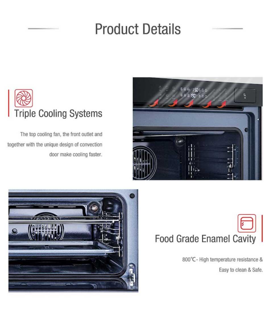 User friendly and time0saving DE&E ZK4585 steam grill combi oven